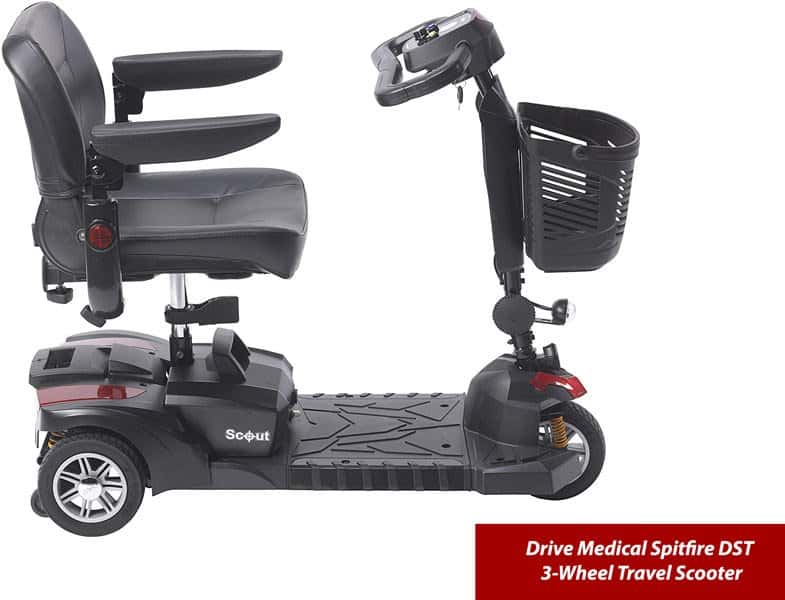 Drive-Medical-Spitfire-DST-3-Wheel-Travel-Scooter